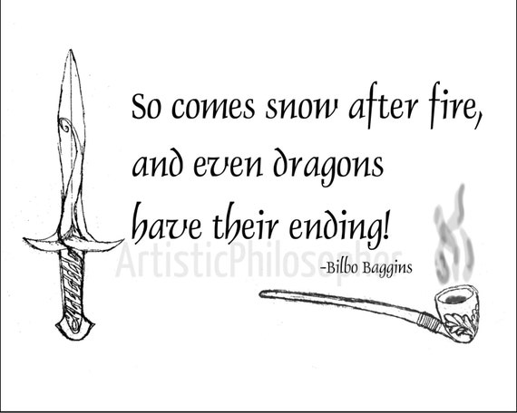 Lord Of The Rings Quote Bilbo Baggins Hobbit So