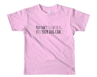 KIDS' You Can't Sit With Us Short Sleeve Tshirt