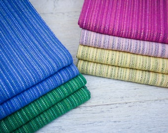 Handwoven Kitchen Towel / Cotton Tea Towel /  Hand Towel / Dish Towel / Striped Towel / Woven Towel / Bright Towel / Rustic Kitchen Decor