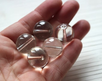 SALE 18mm large clear smooth round beads