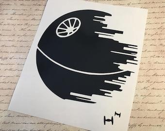 DEATH STAR™  Vinyl Decal Star Wars™ Decal Death Star™  Sticker Laptop Decal Car Decal Yeti Decal Star Wars™