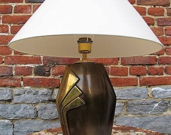 Lamp in brass in the Esa Fredigolli style, circa 1970s.