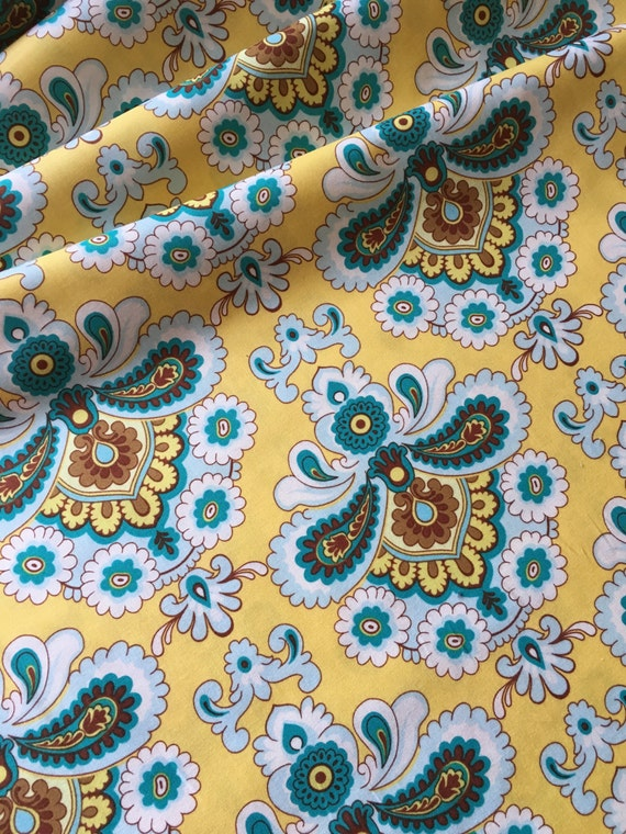 Amy Butler Belle French Wallpaper PWAB111 Mustard (yellow) 1 yard