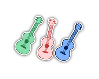 Lil Uke - tiny little uke comes in various color and custom colors - perfect as instrument case stickers, for cars, trucks, laptops and more