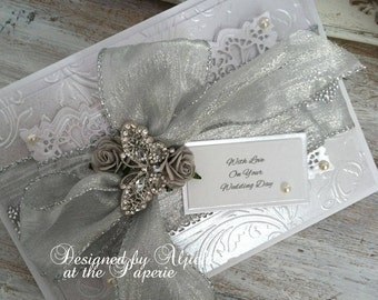 Wedding Card,  Personalized, Silver Wedding, Engagement, Wife, Fiancee