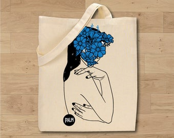 """TOTE BAG be sentimental series """"French phrases"""" / PALMillustrations"""