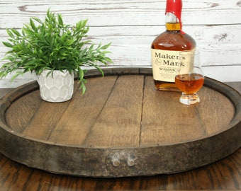 Whiskey / Bourbon Barrel Lazy Susan