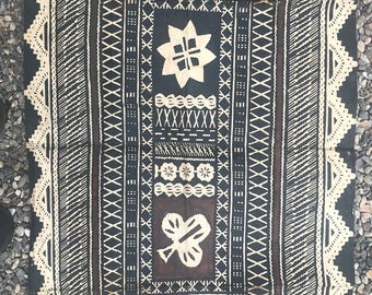 Vintage Tapa Cloth from Hawaii