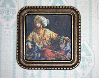 Miniature 1:12 Dollhouse Painting - József Borsos - The Emir of Lebanon