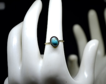 Turquoise Ring Size 5 1/2 Vintage