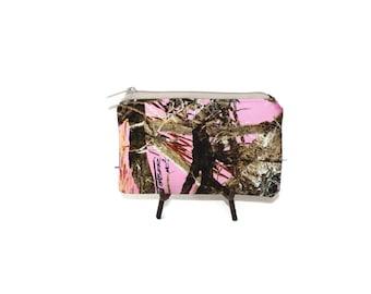 Camo Coin Purse, Pink Camoflague Pouch, Gift for Her, Camo Zipper Pouch, Camoflague Gift for Her, Purse Organizer