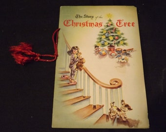 Rare Vintage The Story of the Christmas Tree Booklet