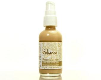 Cream Foundation, 2oz, Light Shade, mineral foundation, liquid foundation, natural foundation, mineral makeup foundation, face moisturizer