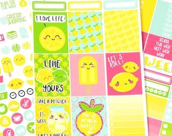 Lemon Planner Sticker Kit - Pun Planner Stickers - Lemonade Planner Kit - Full Kit - Mini Kit - A La Carte - Planner Sticker Kit