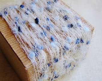 Powder and Dusk Blue Petite Pom Fringe Trim - wedding party craft supply, scrapbook embellishment, specialty gift wrap- 5 yds