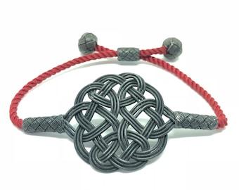 Bracelet_Oxidized Sterling Silver Love Knot Bracelet