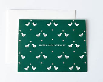 Anniversary Card, Happy Anniversary Card, Birds Card