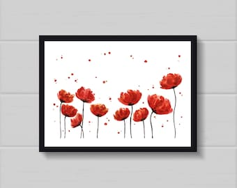 Poster Red Flower
