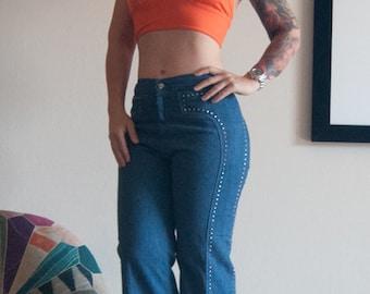neon peach orange 70s 1970s short crop cropped midriff halter top shirt open back S M festival boho hippie hippy