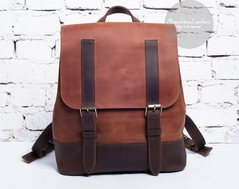Womens leather backpack, leather back pack, hipster backpack, leather rucksack, rucksack backpack, mens backpack, vintage leather backpack