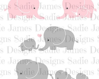 Elephant SVG and Silhouette Studio cutting file, Instant Download