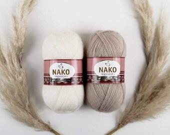 NAKO ANGORA LUKS,New yarn, Wool mohair yarn. wool yarn, mohair yarn, acrylic yarn, crochet yarn