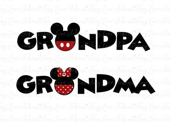 Disney Grandma Grandpa SVG Design for Silhouette and other