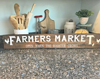 Farmers Market Sign - Rustic Farm Sign - Reclaimed Wood - Vintage Market Sign - Farmhouse Sign - Fixer Upper - Farmhouse Collection