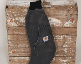 Rustic Christmas Stocking- Upcycled CARHARTT Canvas for Men, Guys, Gals, Hunter and Farmer