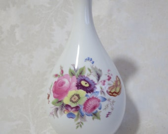 Vintage Coalport floral fine bone china vase in the popular Junetime design, perfect for a June birthday!