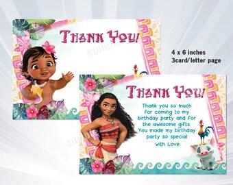 Moana birthday invitation baby moana invitation baby moana moana thank you card heihei thank you card moana party moana birthday stopboris Images