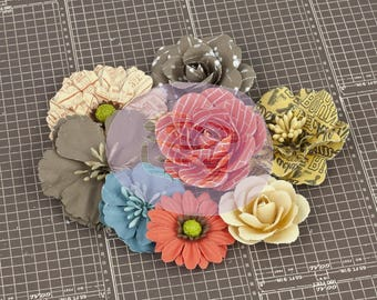 PRIMA- Craft Bundle of Paper Flowers and Candy Gems Floral Pick