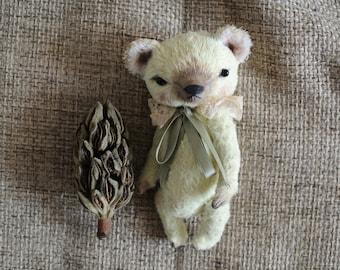 Artist teddy bear OOAK 6 inch tall handmade small