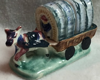 Salt and Pepper - Donkey/Horse with Covered Wagon (#058)