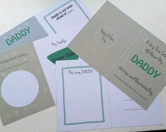 Instant Download Fathers Day Colour In Book