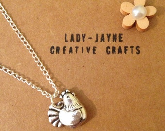 Chicken necklace. 16'' or 18''. Perfect for hen party or children mad on chickens.