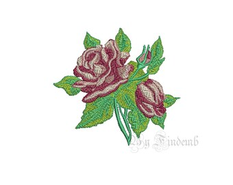 Rose Embroidery Designs 1 size Instant Download