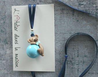 Pregnancy's Bola blue sleepy brown bear