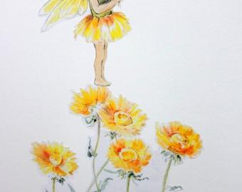 Fairy wall sticker, fairy wall decals, flower fairy decals, floral wall decals, fairy decals, wall stickers, girls decals, fairy gifts