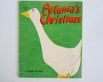 Petunia's Christmas Roger Duvoisin First Scholastic Printing 1967