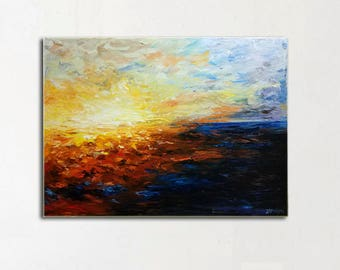Free Shipping! Abstract art,Oil Painting,Abstract Original Art, 80/60CM, 31.5/23.6Inches.