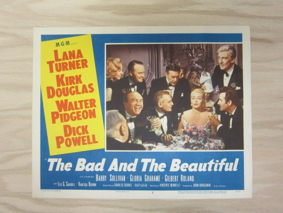 Vintage Lobby Card Lana Turner The Bad And The Beautiful / The Merry Widow