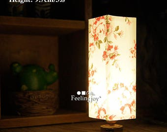 1/6 or 1/12 scale Dollhouse miniature Japanese style dummy rice paper shadow light retro bedroom lamp