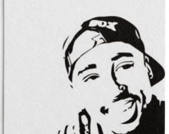 Tupac Paper Drink Coaster