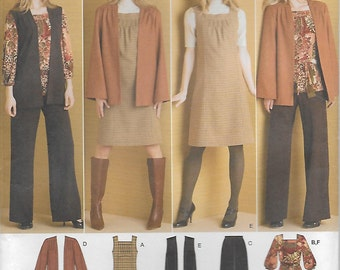 Plus Size Women's Wardrobe Pattern Multi-size 20W 22W 24W 26W 28W Pants Jumper Top Jacket Vest Belt