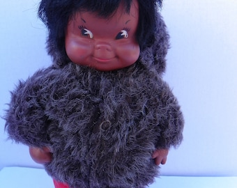 Vintage Regal Eskimo Doll , Canada Souvenir Doll , Native Inuit Doll , Vintage Native First Nations , Native Canadian Doll , Indigenous