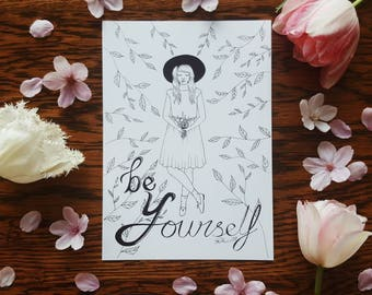 Y for be Yourself A5 Print Selfabet Self care
