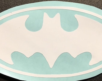 DC Batman Symbol Vinyl Decal Sticker - Car Decal - Attach to Any Smooth Surface - Cars, Windows, Laptops, Walls, ect. - Many Colors & Sizes