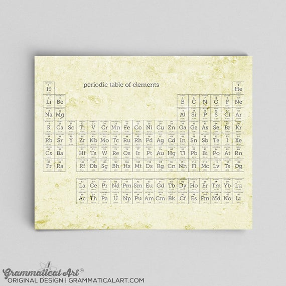 Periodic table wall art periodic table poster periodic table periodic table wall art periodic table poster periodic table print periodic table of elements science classroom urtaz Image collections