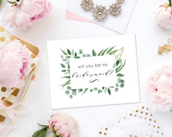 Will You Be My Bridesmaid Card Download - Bridesmaid Proposal - Bridal Party Card - Bridesmaid Card - Maid of Honor Card - Bridesmaid Gift